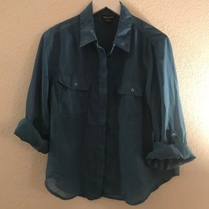 Sheer & flowy button up blouse